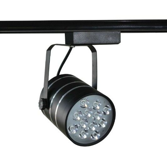 Bright Cob Black Led Track Spot Lighting Fixtures With Warm White 3500k