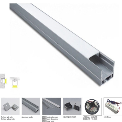 Recessed Aluminum Led Profile For Strip Light Commercial