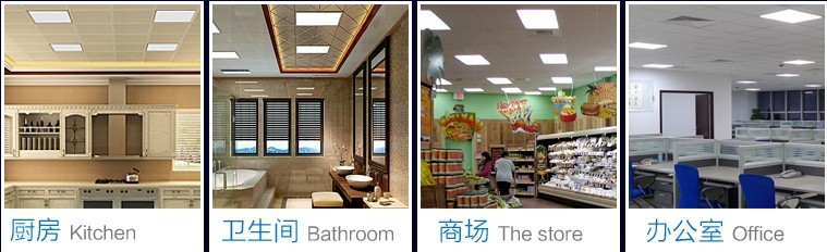 W Square Led Flat Panel Ceiling Light For Home Energy Saving - Flat kitchen ceiling lights