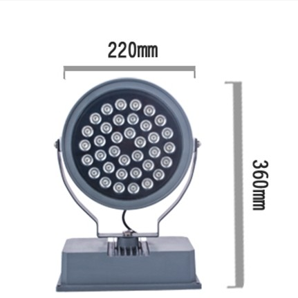 High Power 36W Round Led Spot Light For Outdoor Gym IP65 , Cold White 7000K Led