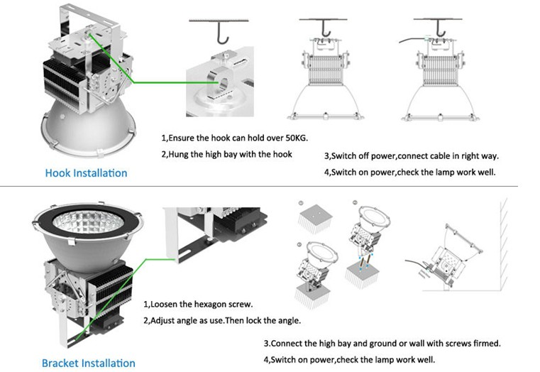 400w Led High Bay Lights Spotlight With 3 Years Guarantee